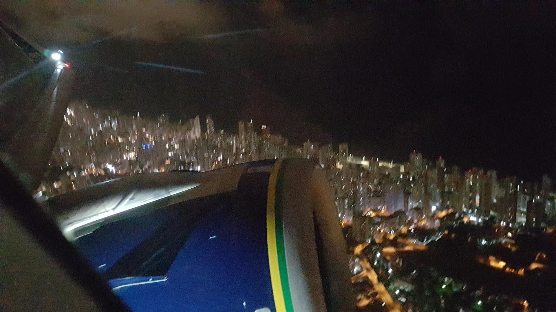 Vistas de Fortaleza desde el avión