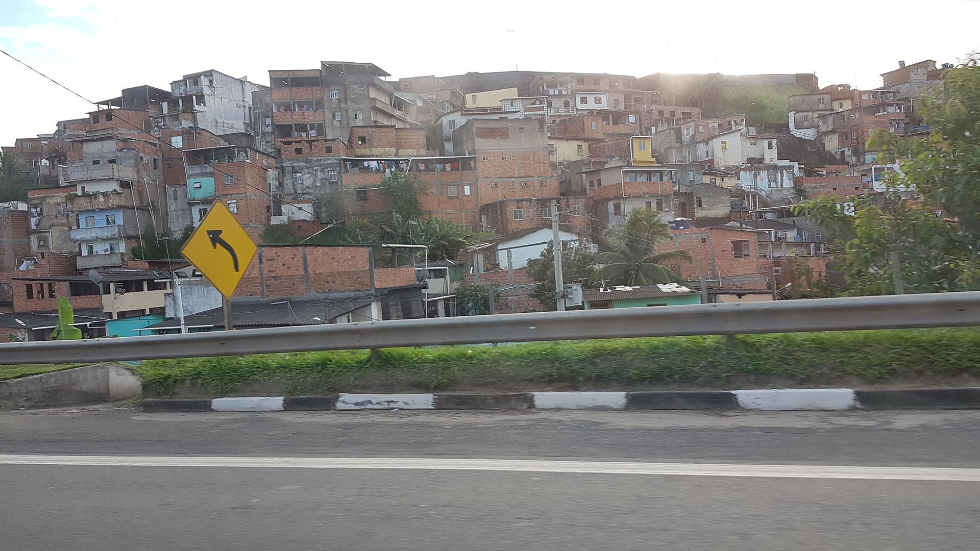 Favela en Salvador de Bahía