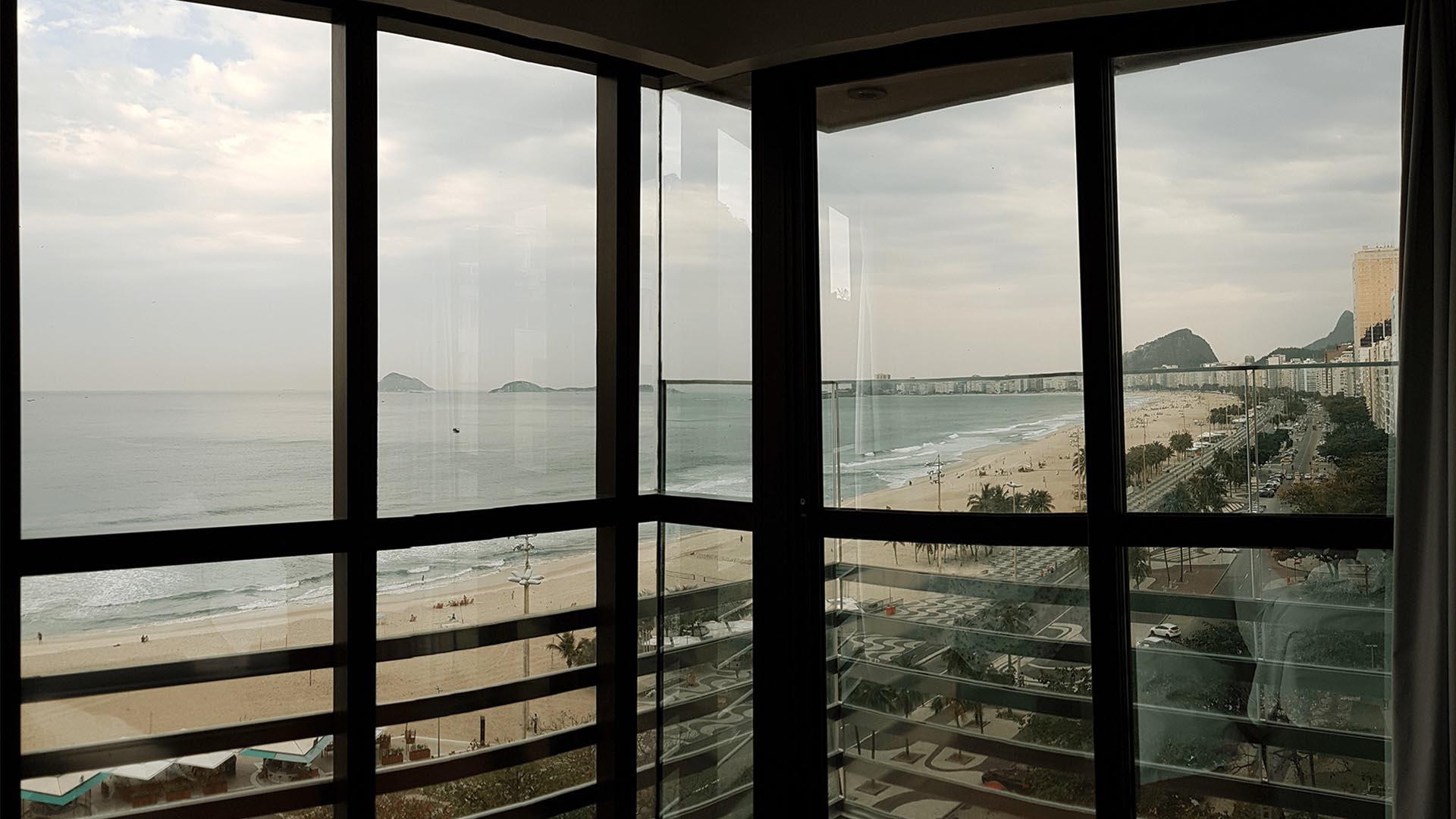 Vistas desde la habitación del Hotel Arena Leme, Río de Janeiro