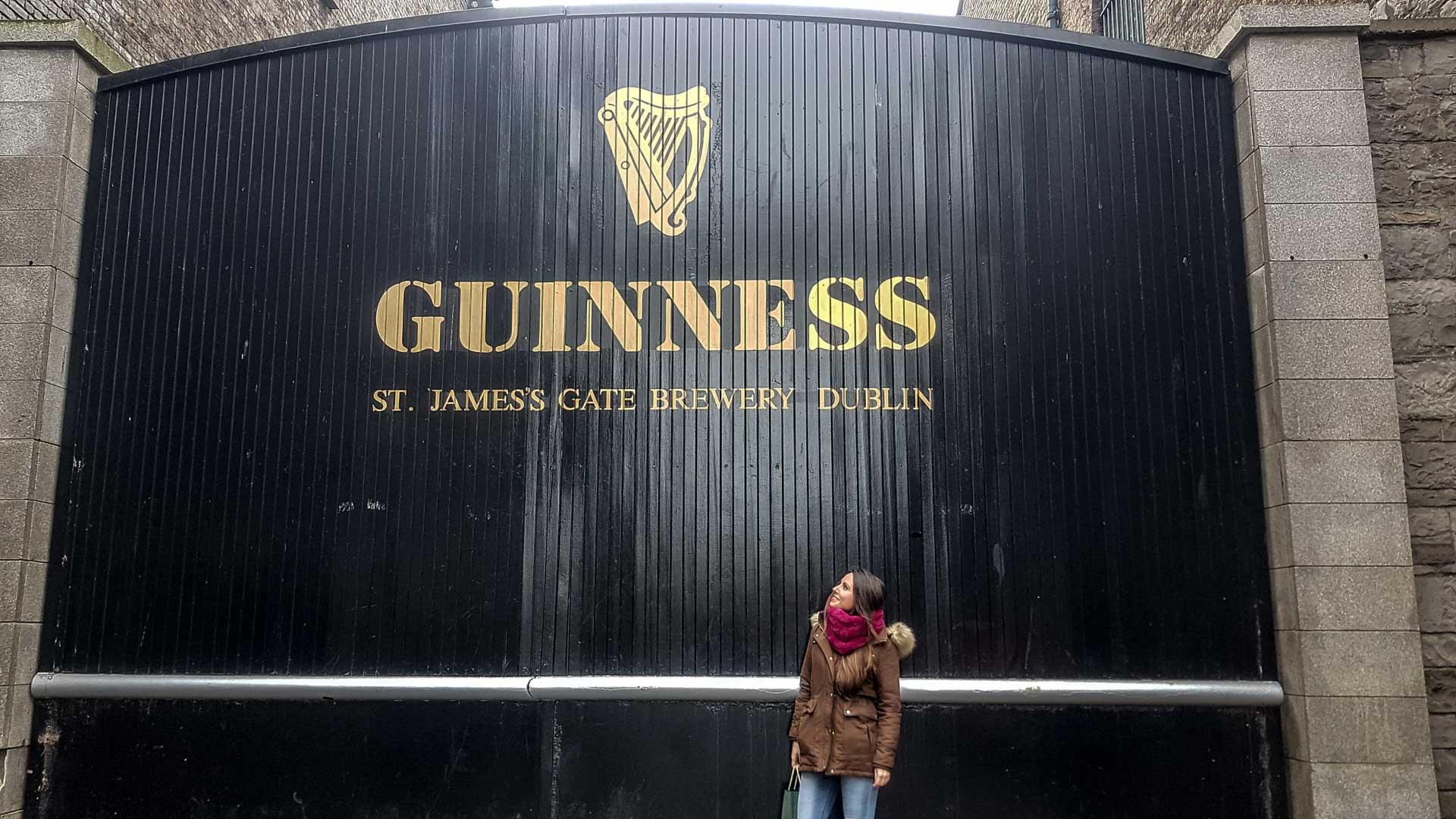 Entrada de la Guinness Storehouse, Dublín, Irlanda