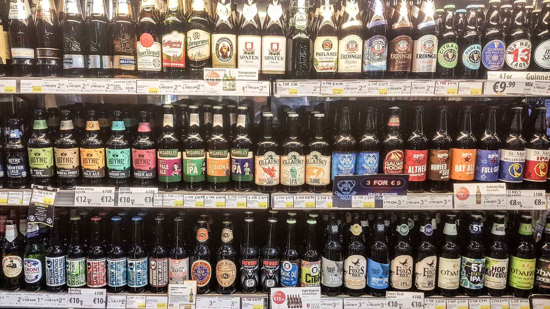 Tienda de cervezas en Dublín