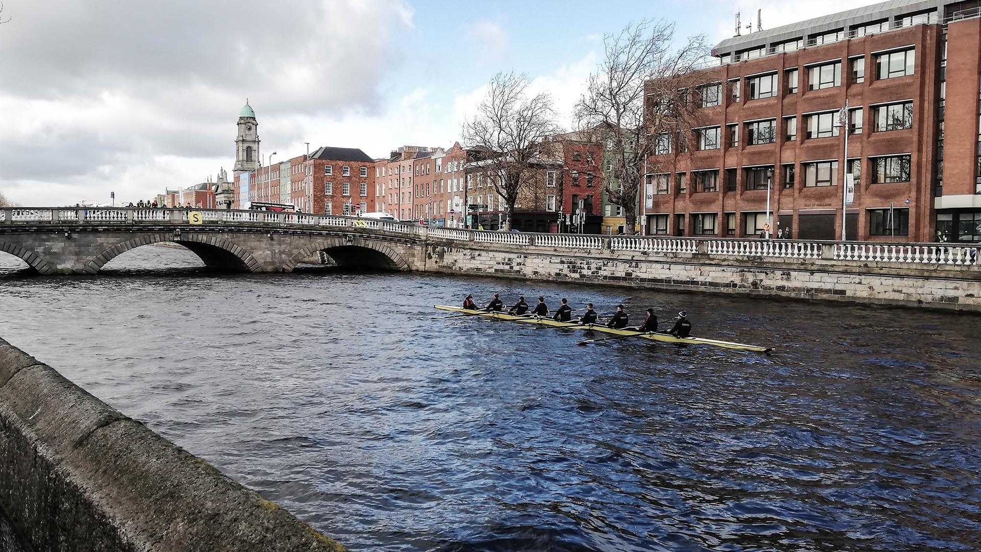Río Liffey, Dublín, Irlanda