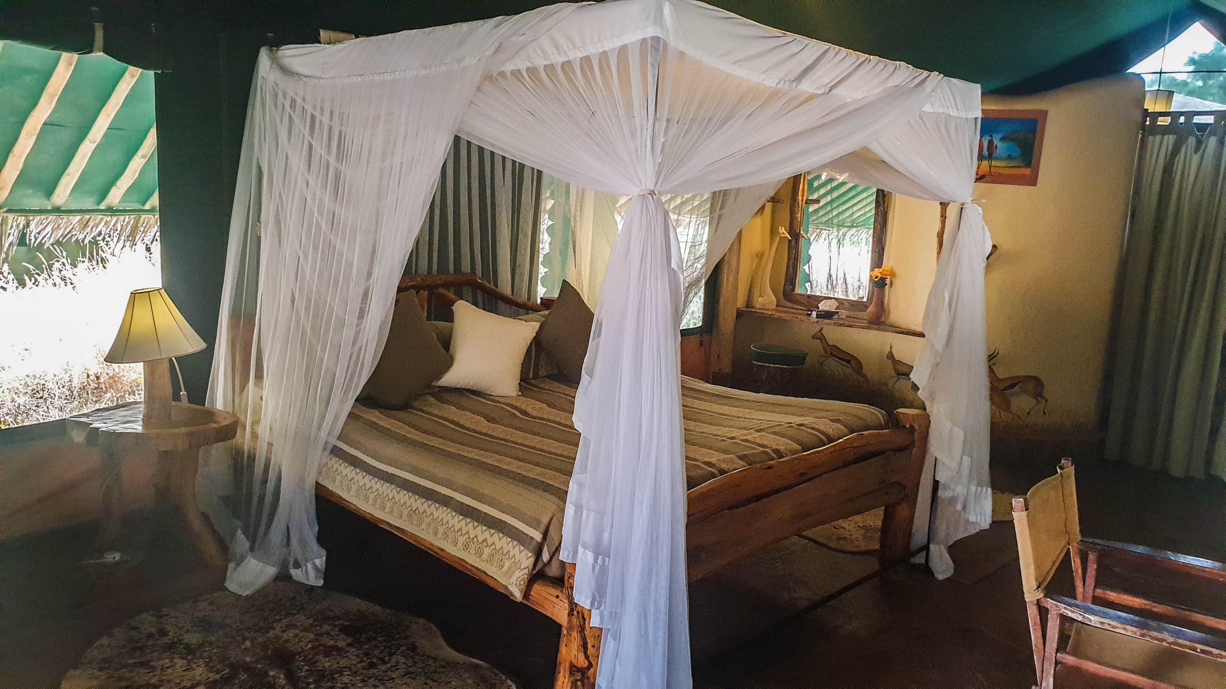 Nuestra cabaña en Kibo Safari Camp, Amboseli, Kenia