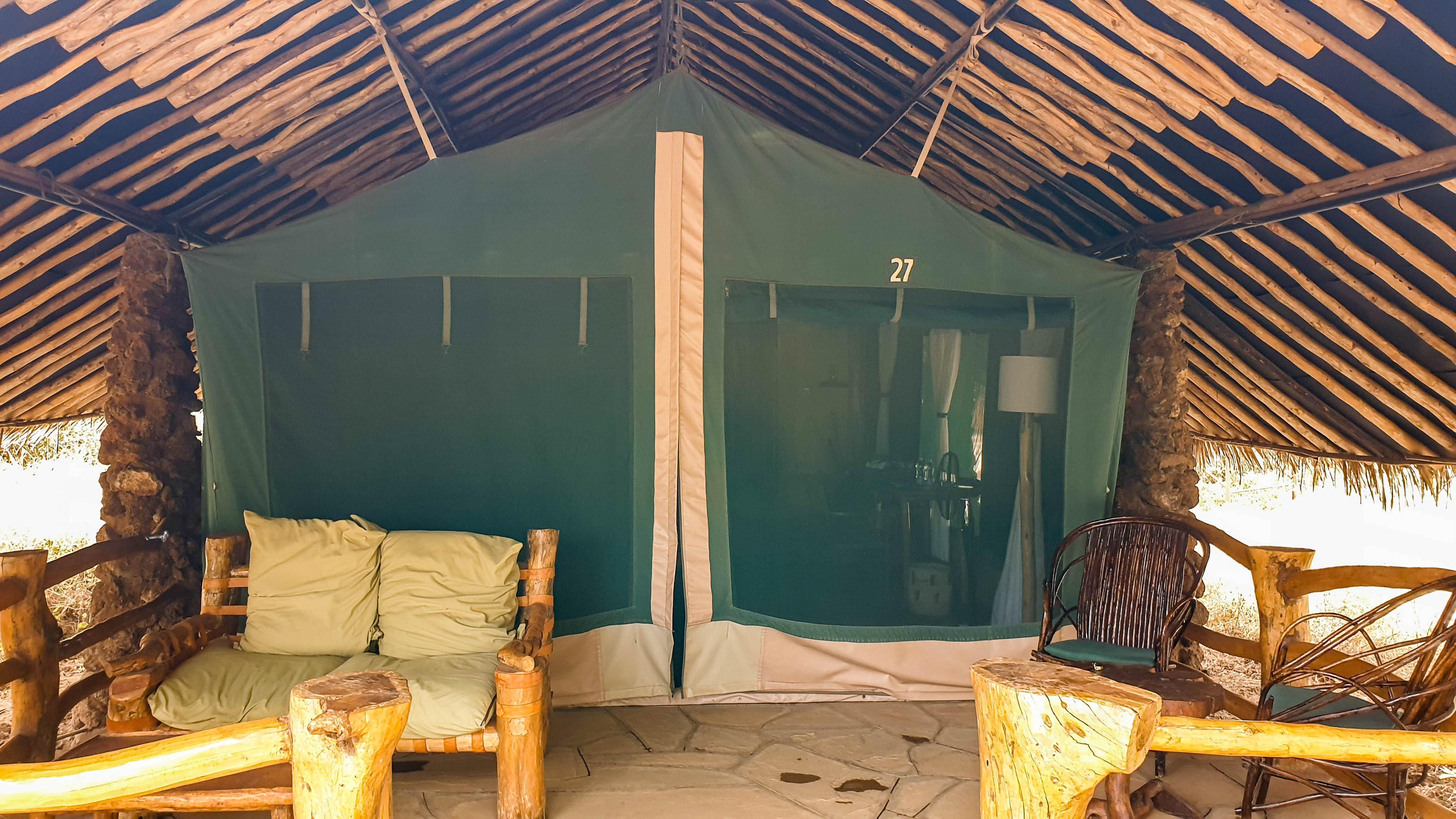 Nº 27, nuestra cabaña en Kibo Safari Camp, Amboseli, Kenia