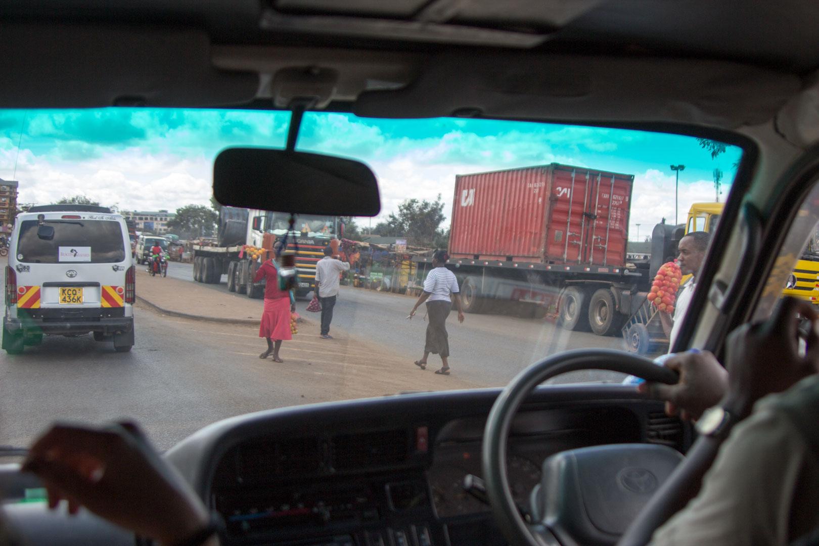 Carretera de Nairobi a Amboseli, Kenia