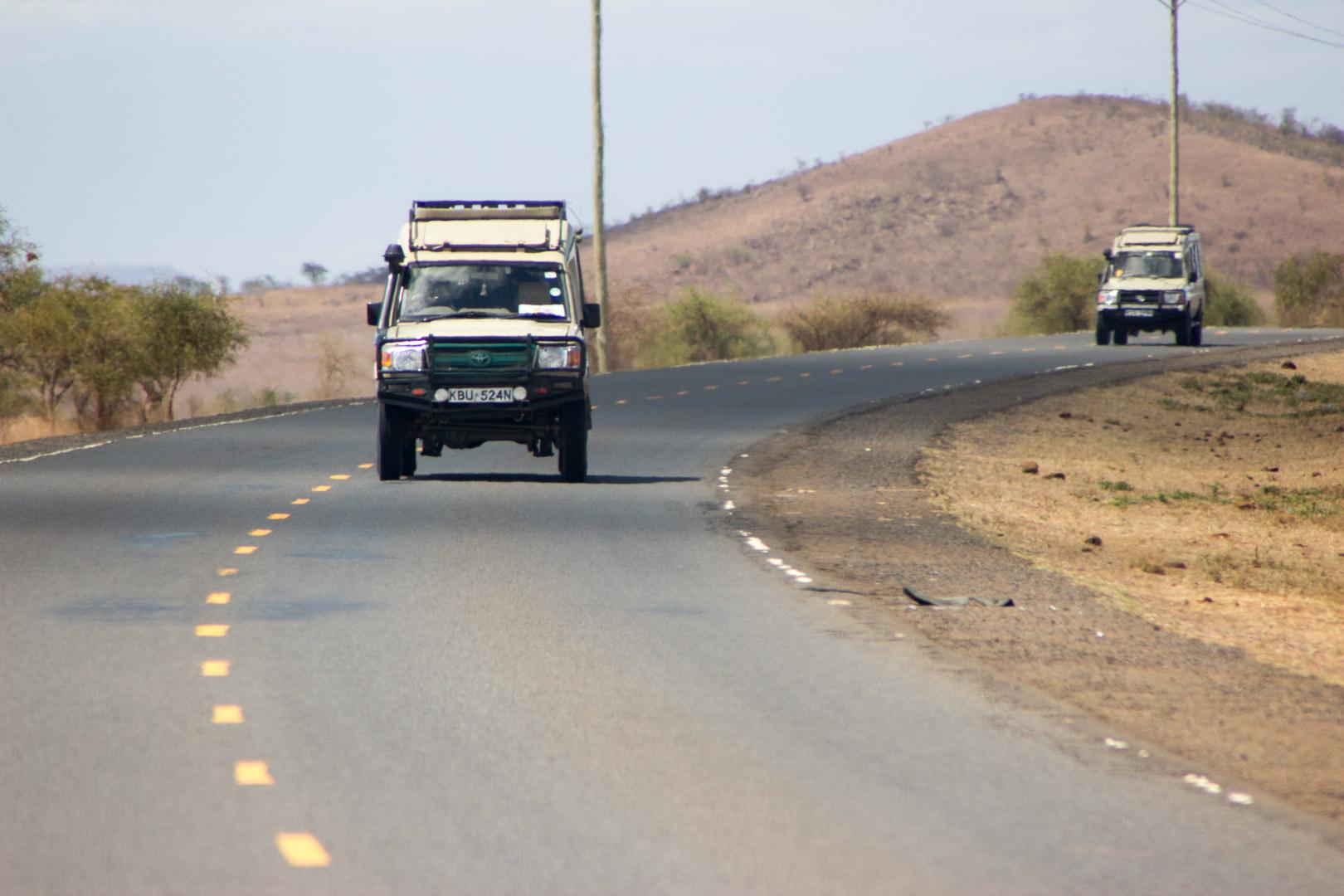 Carretera hacia Amboseli, Kenia