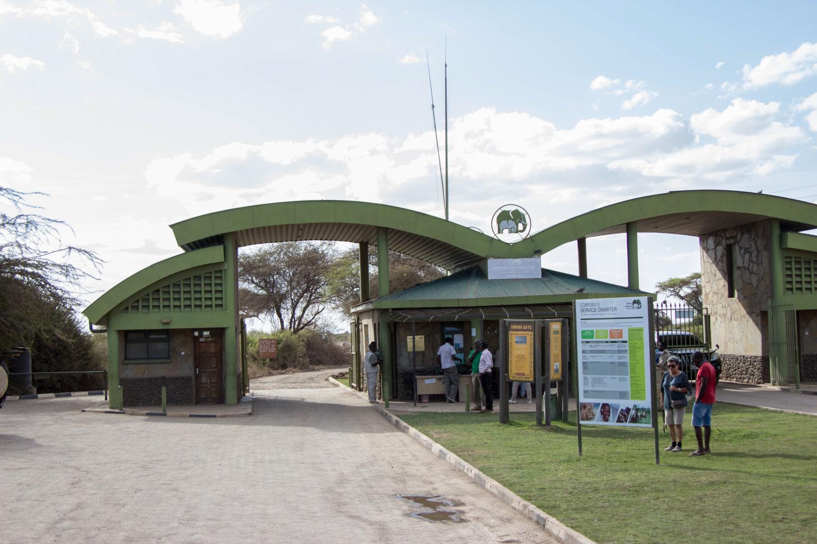 entrada del Parque Nacional de Amboseli, Kenia