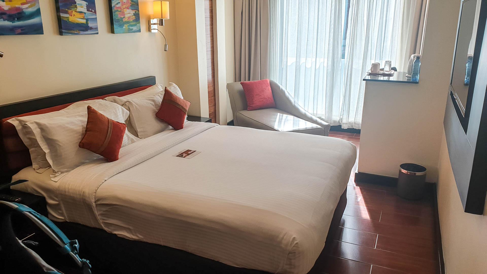 Nuestra habitación en el Hotel Best Western Plus Meridian, Nairobi, Kenia