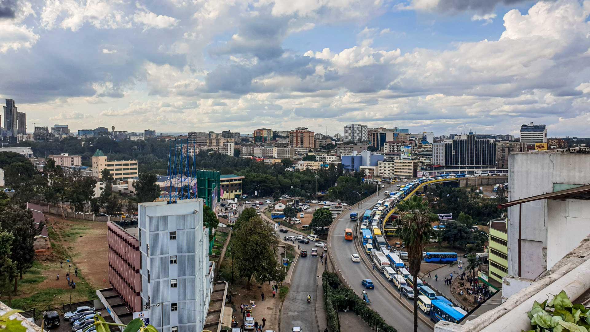 Vistas de Nairobi desde el Hotel Best Western Plus Meridian, Nairobi, Kenia