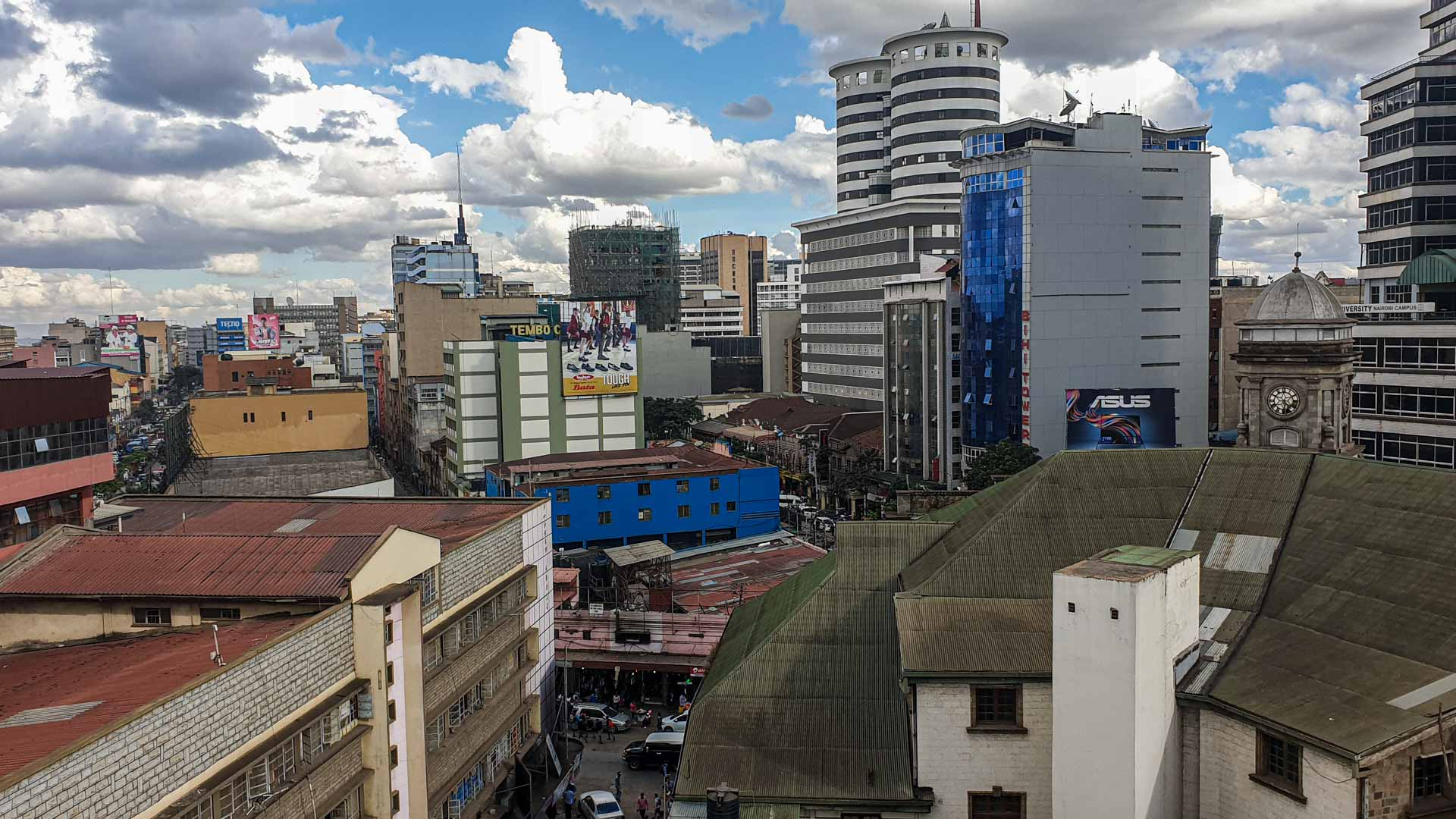 Nairobi desde la azotea del Hotel Best Western Plus Meridian, Nairobi, Kenia