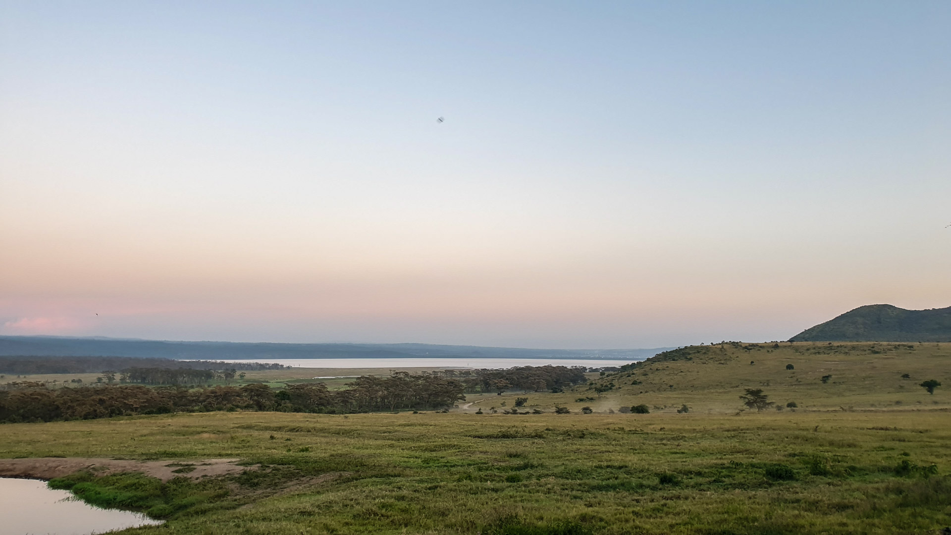 Vistas del lago Nakuru desde Lake Nakuru Lodge