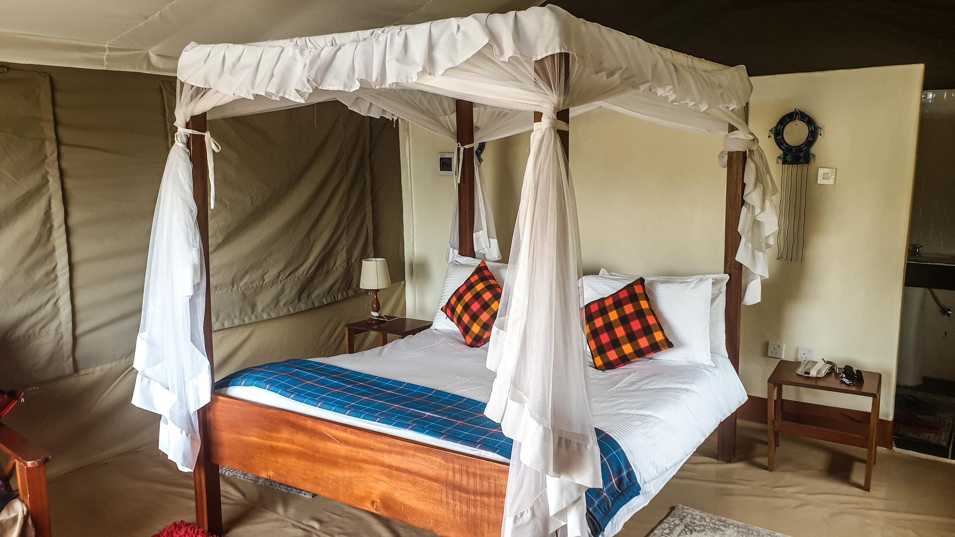 Tienda de campaña por dentro, Enkorok Mara Camp