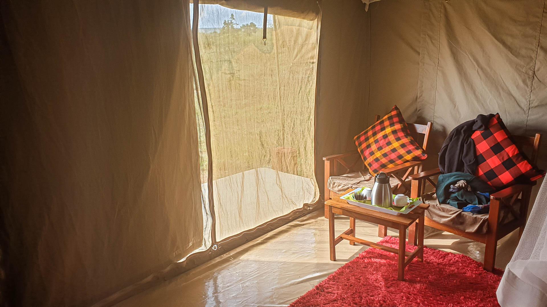 Entrada de nuestra tienda, Enkorok Mara Camp