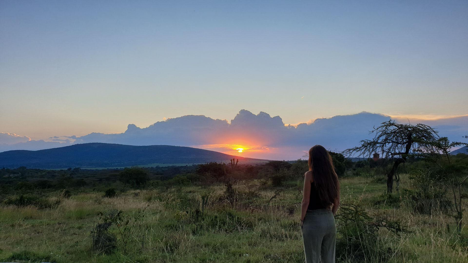 Vistas desde nuestra tienda, Enkorok Mara Camp