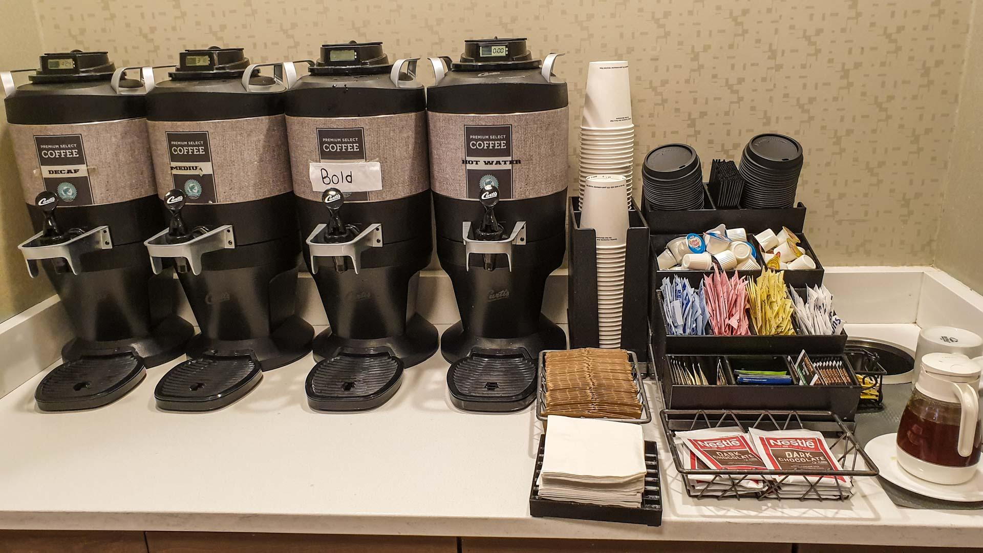 café, té e mel 24 horas no noso apartamento provisional en Milford