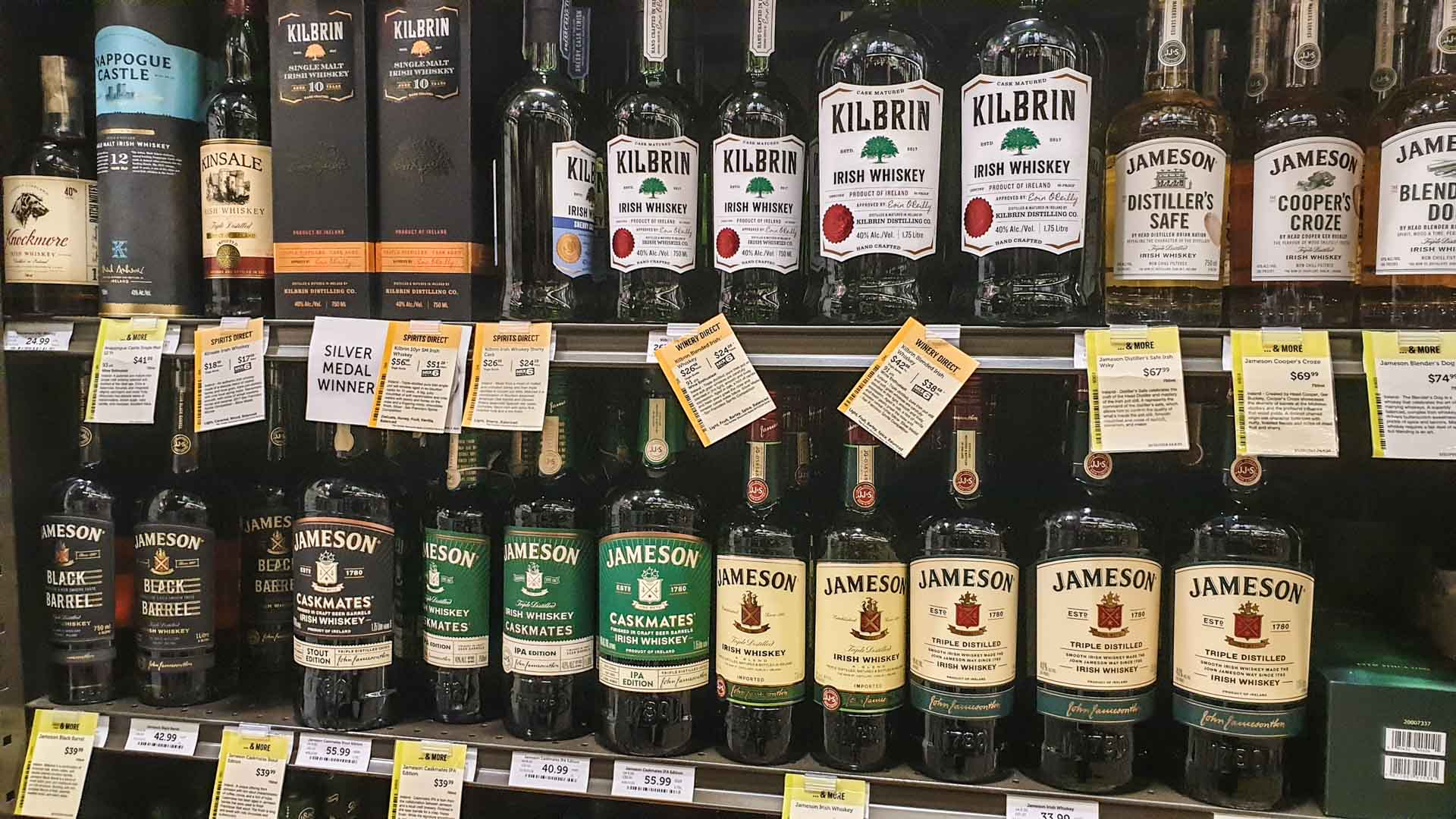 Todos los tipos de Jameson en Total Wine & More, Milford, Connecticut