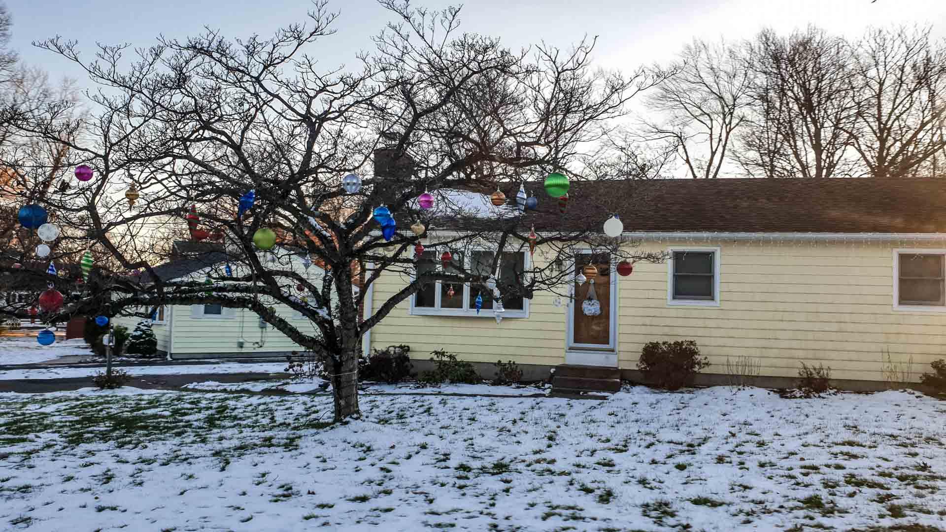 árbore con decoración de Nadal en Milford , Connecticut