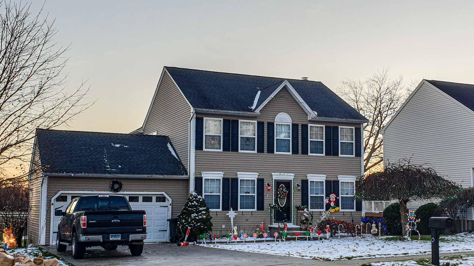 Casa con decoración de Nadal en Milford, Connecticut