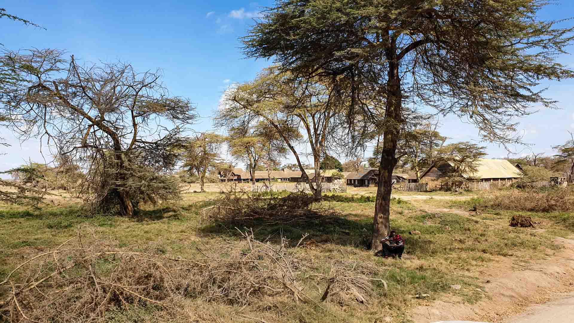Hotel abandonado, Amboseli, Kenia