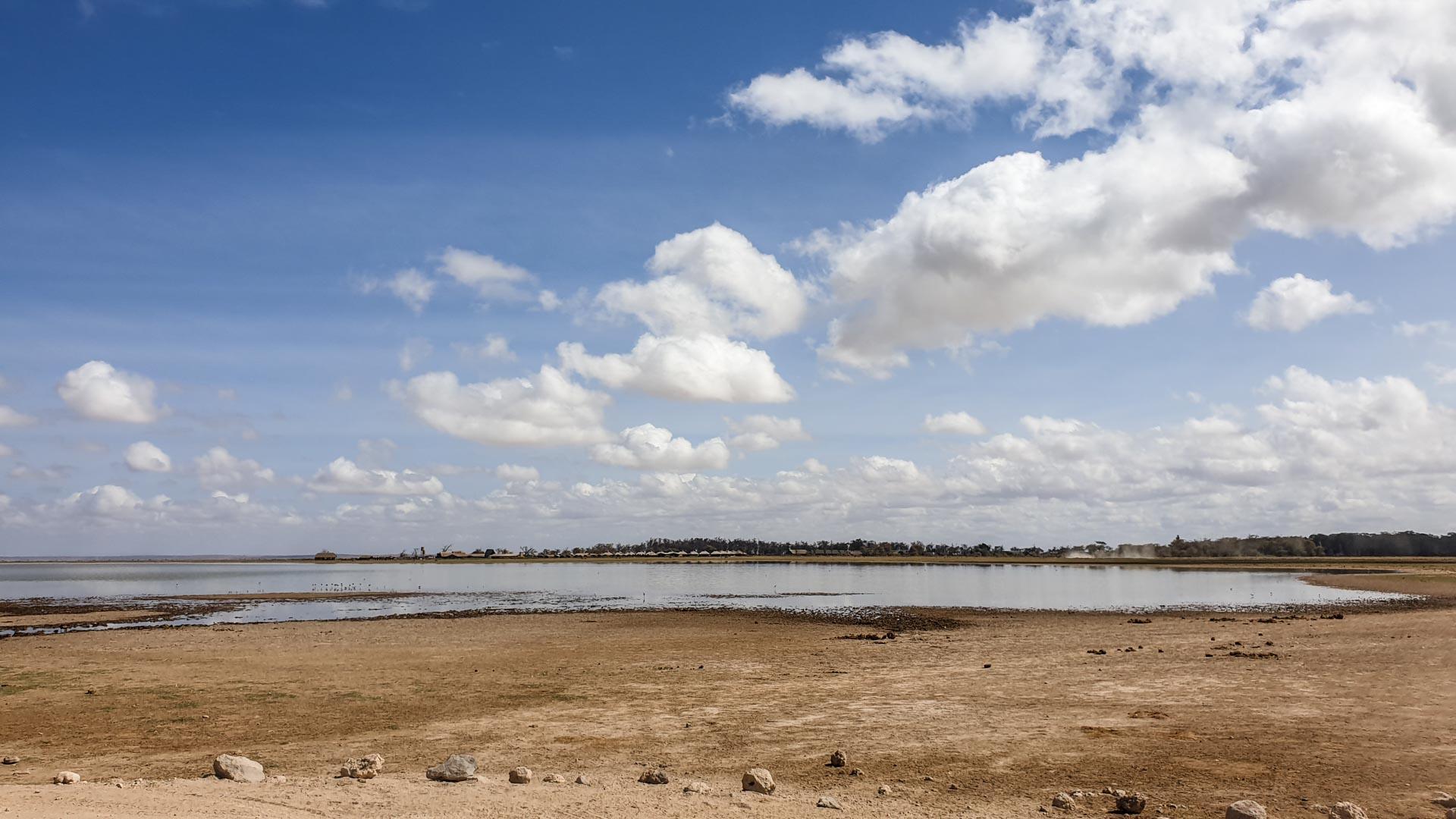 Laguna en el Parque Nacional de Amboseli, Kenia