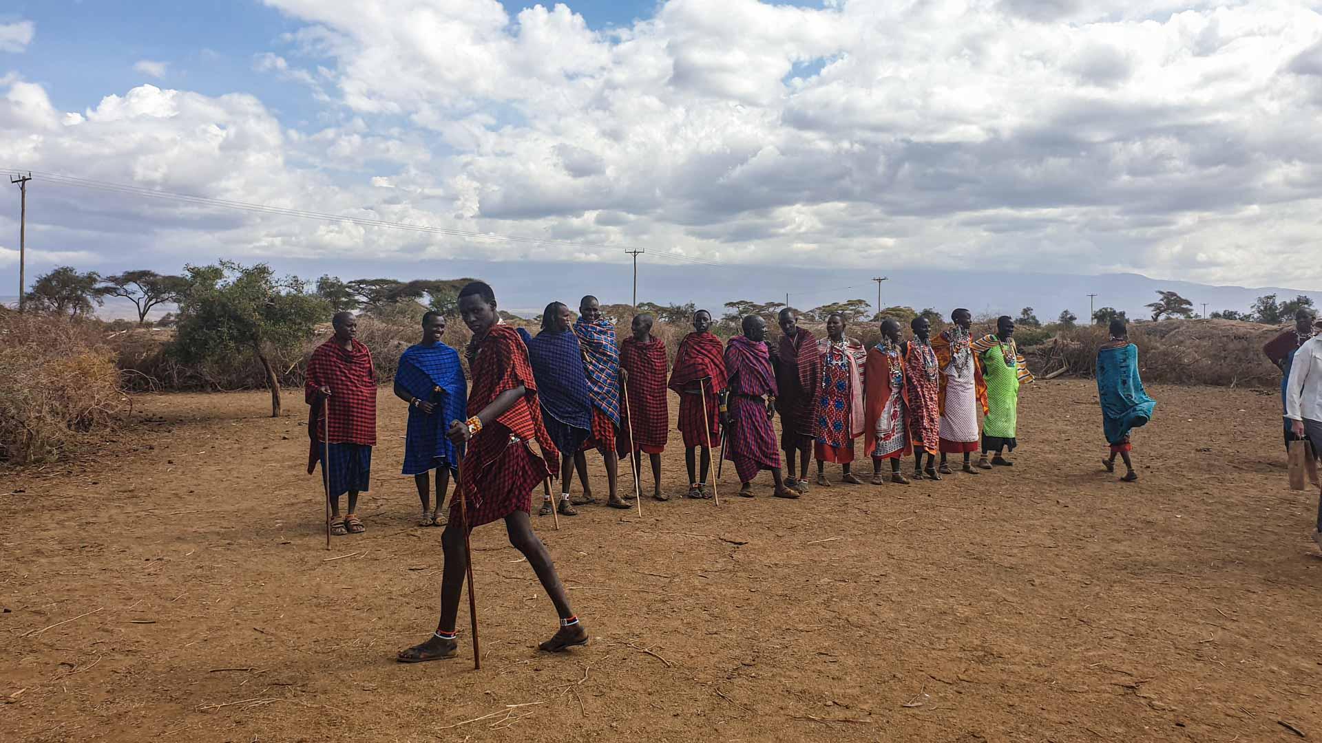 Visita a una tribu Masai en Kenia