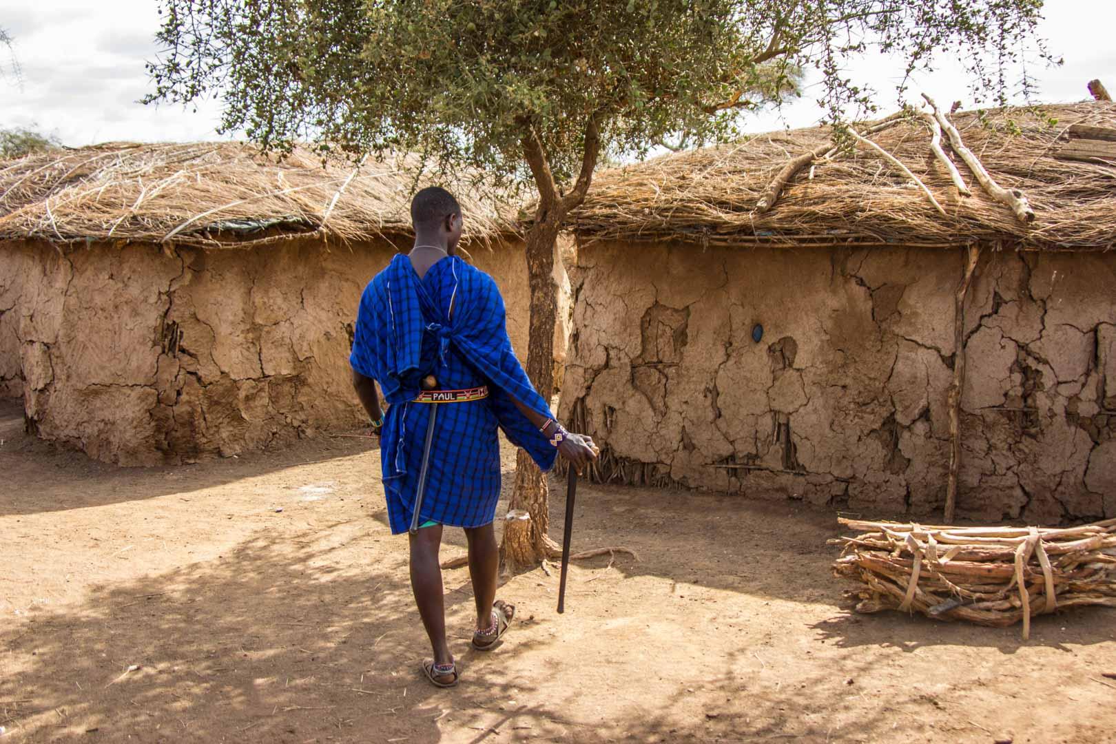 Nuestro guía Masai