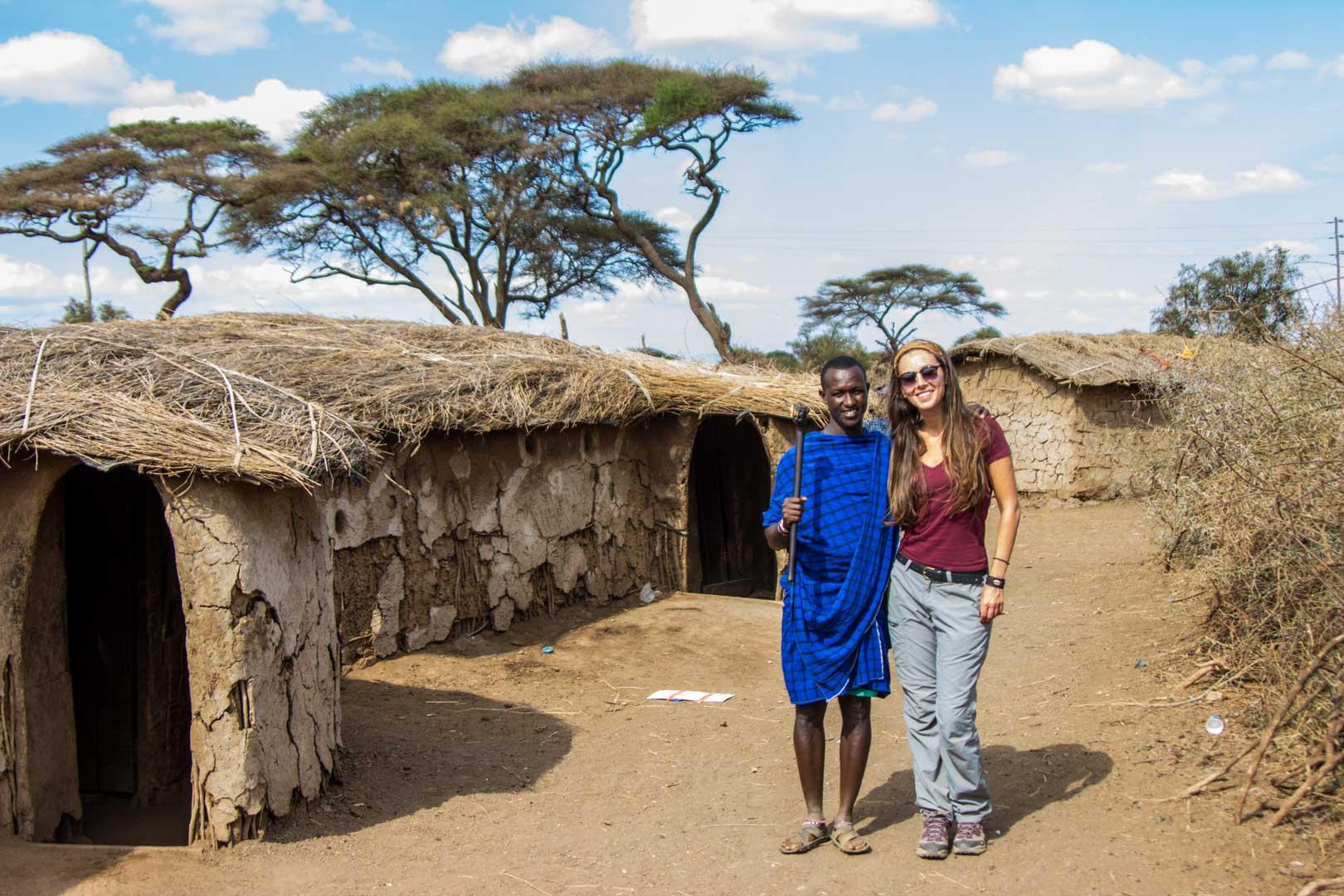 Visitamos las casas de una tribu Masai en Kenia