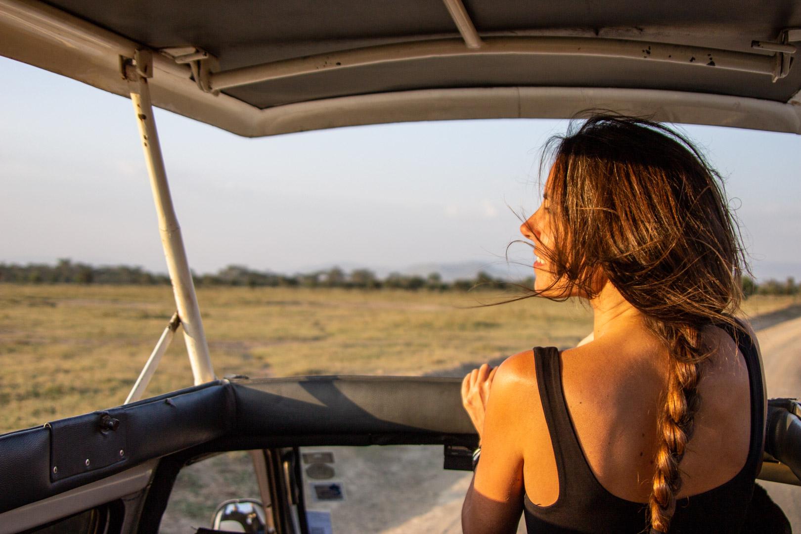 Disfrutando del atardecer en Lago Nakuru, Kenia