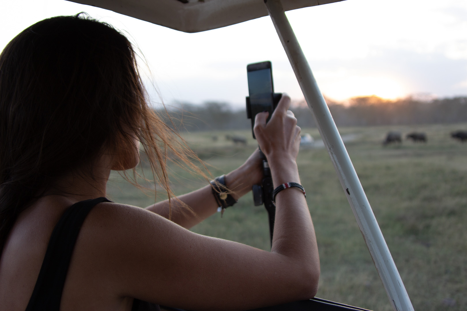 Capturando el atardecer en Lago Nakuru, Kenia