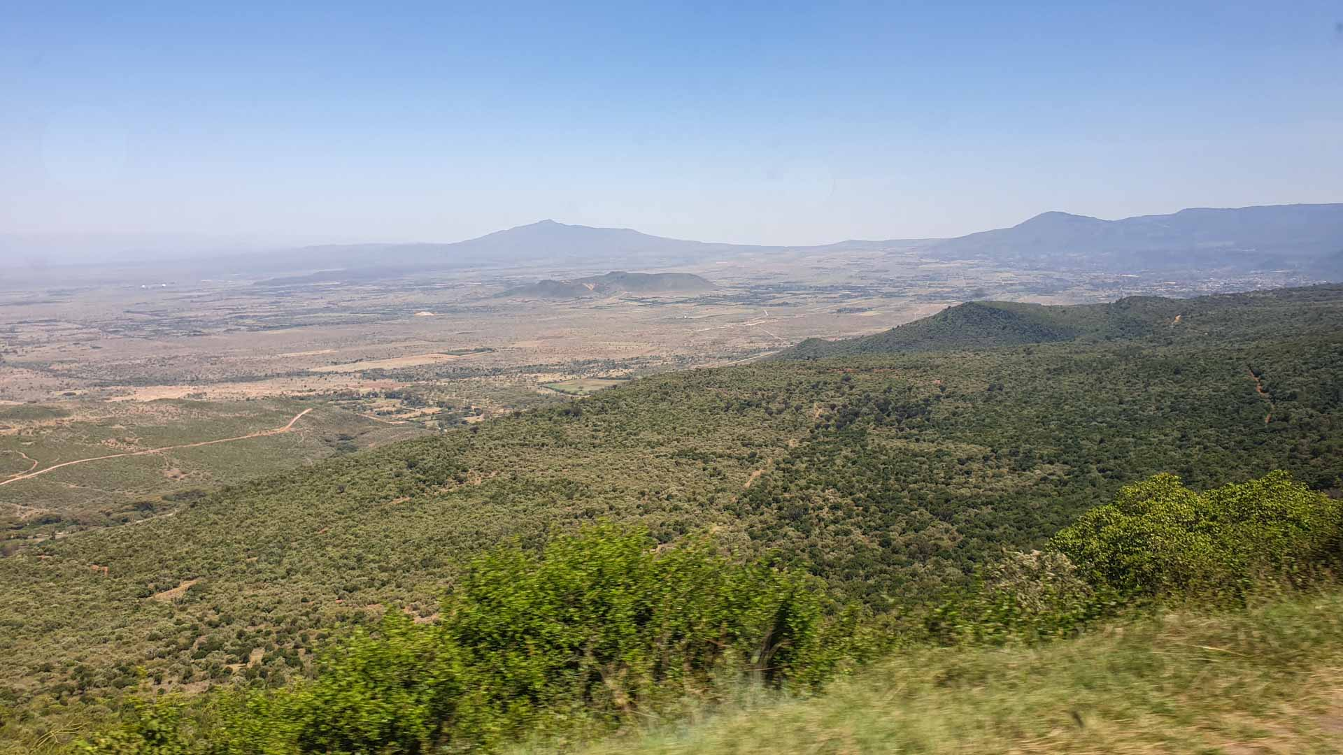 Foto desde la furgo del Valle de Rift, Kenia