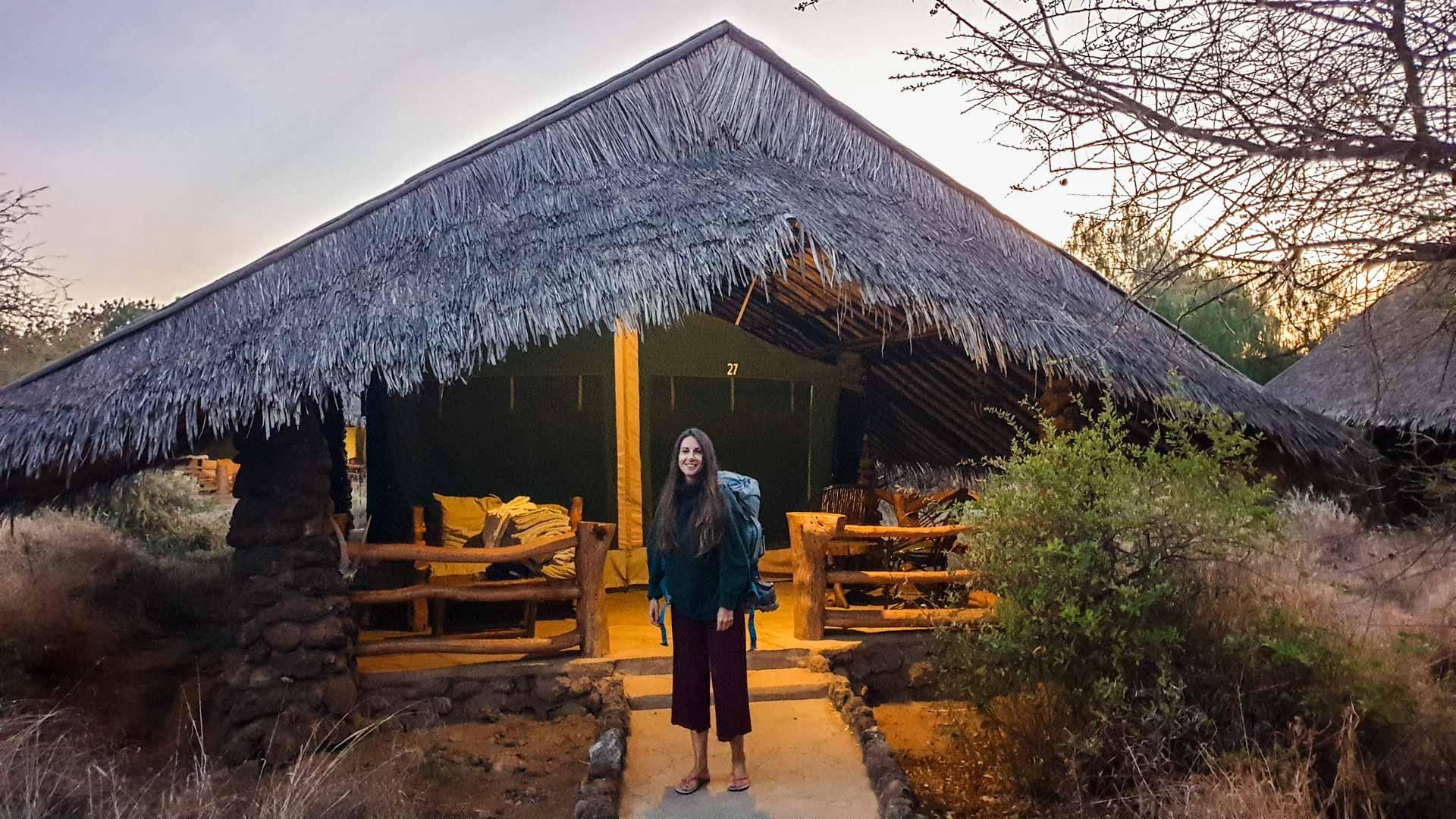 Decimos adiós a nuestro alojamiento Kibo Safari Camp, Amboseli, Kenia