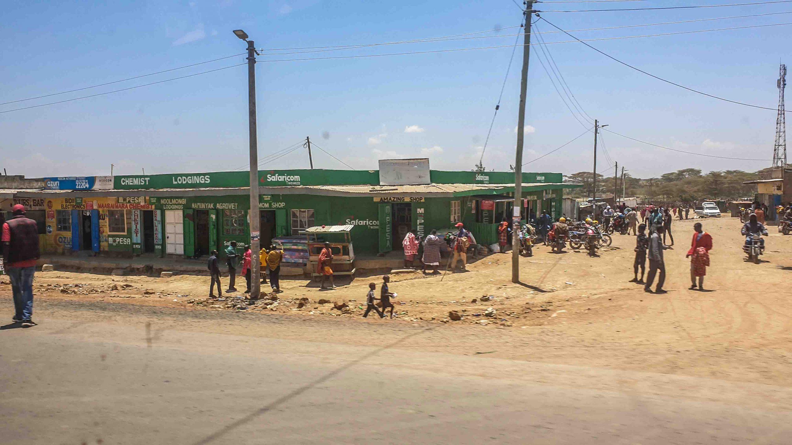 Punto de venta de Safaricom, Kenia