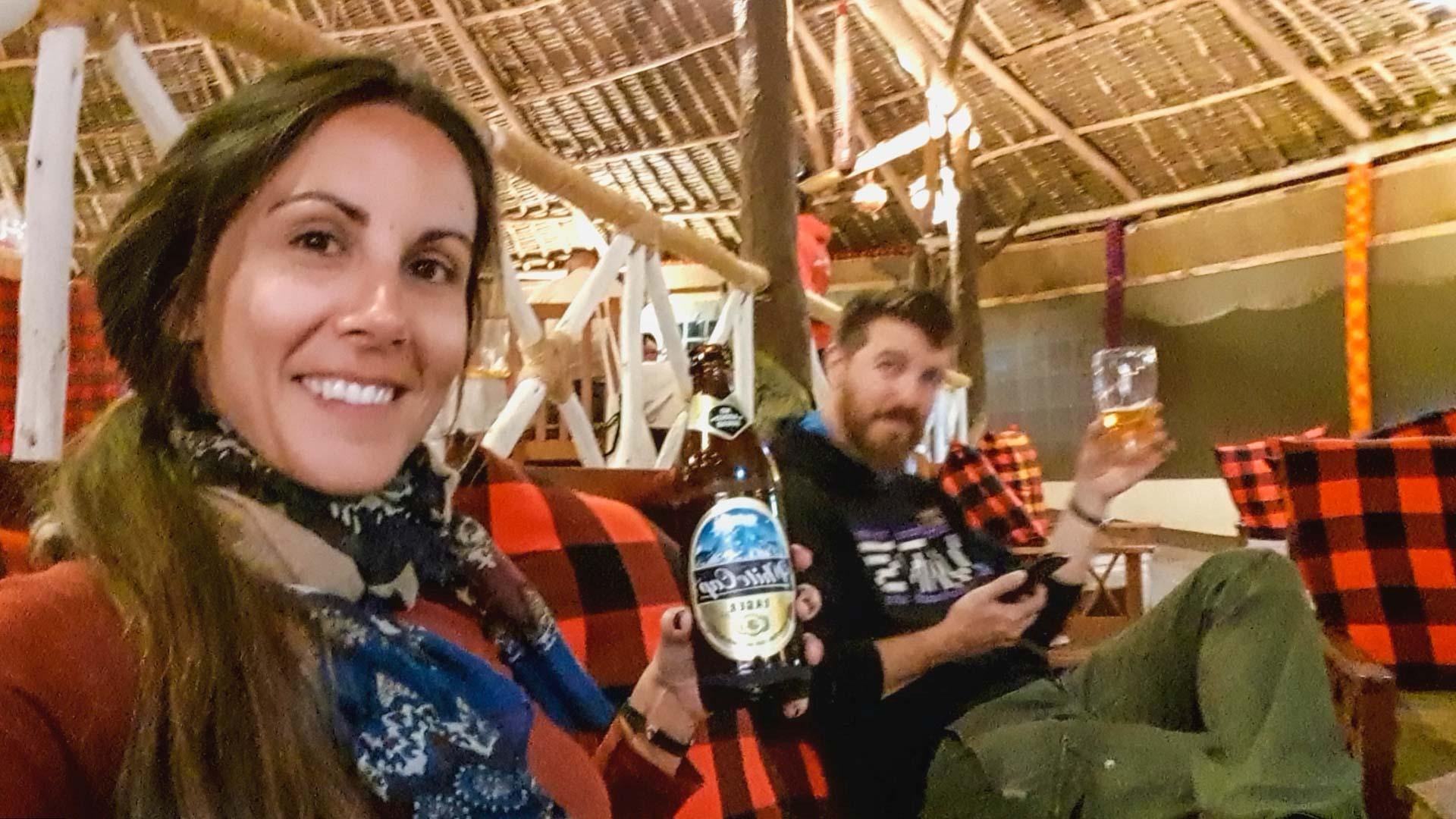 Merecidas cervezas, Enkorok Mara Camp, Kenia