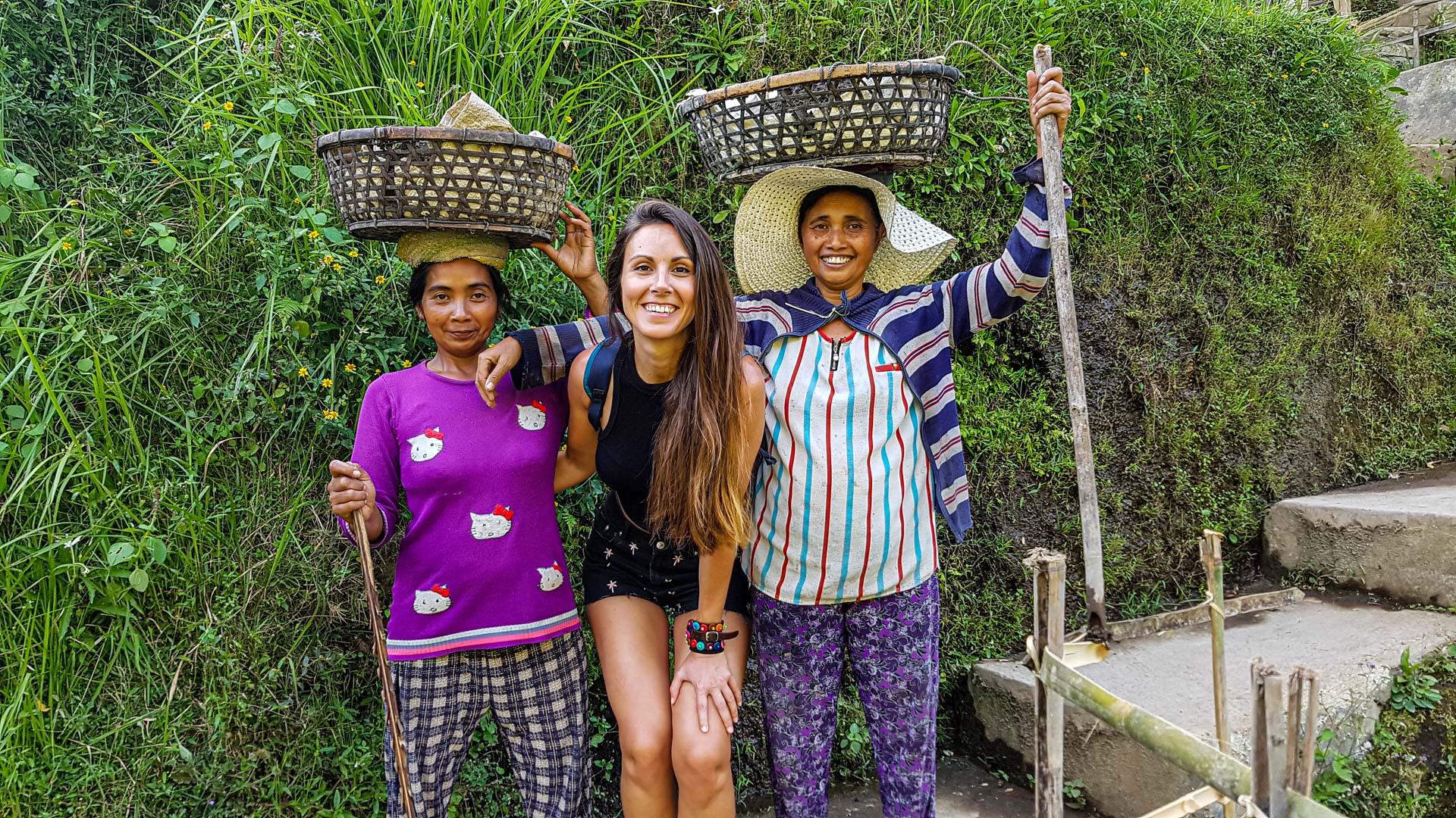 Trabajadoras de los arrozales de Tegalalang, Bali, Indonesia