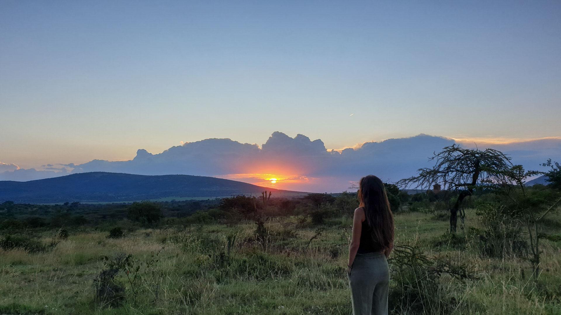 Atardecer en el Masai Mara, Kenia