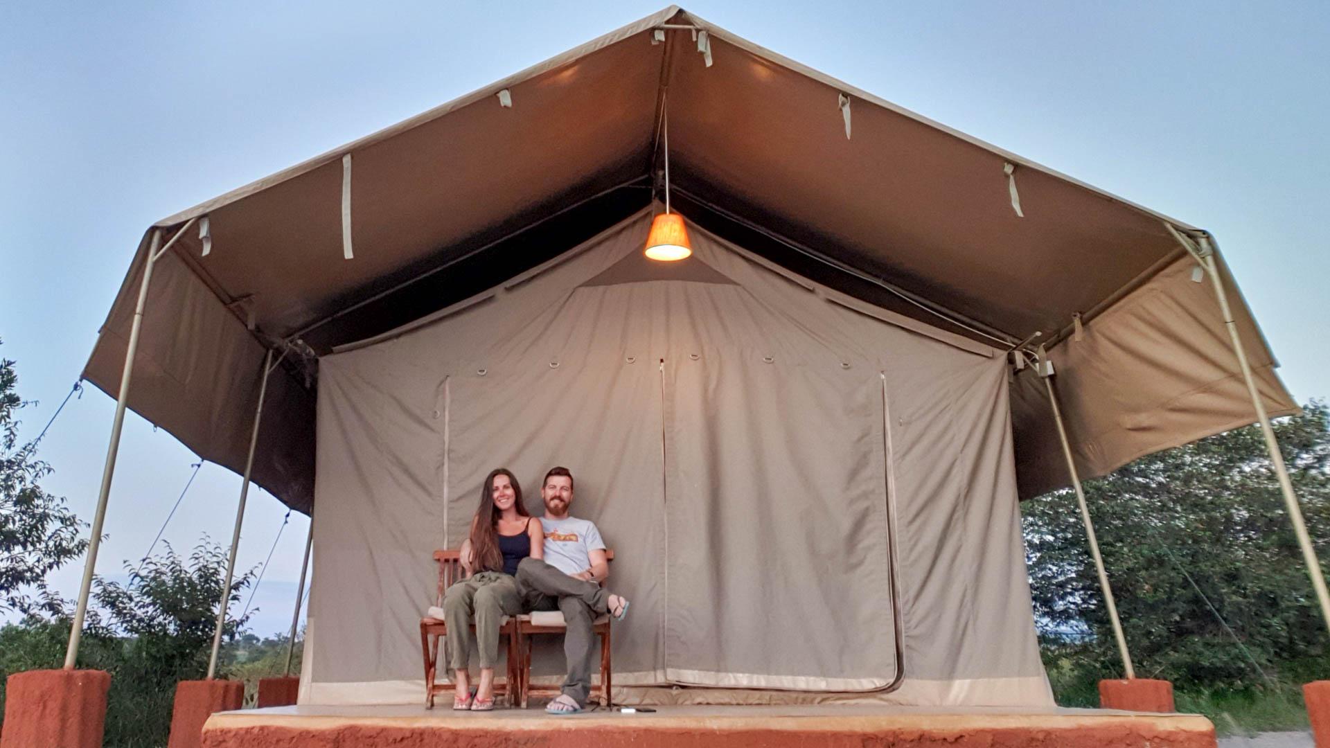 Nuestro alojamiento en Masai Mara, Enkorok Mara Camp, Kenia