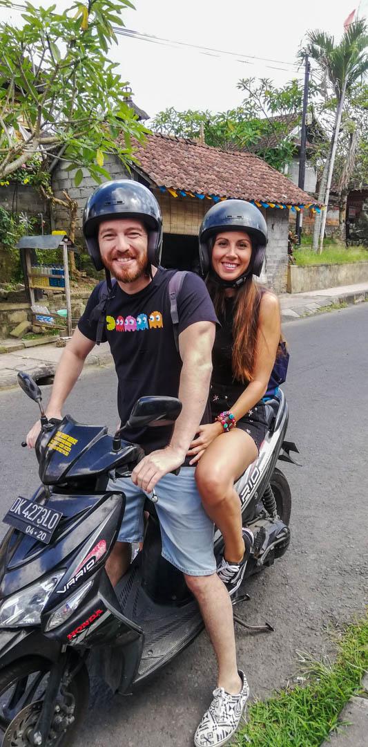 Nuestra moto alquilada en Bali, Indonesia