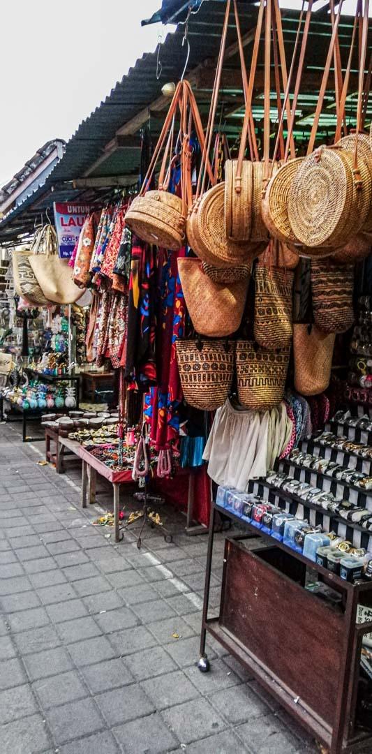 Mercado Tradicional de Ubud, Bali, Indonesia