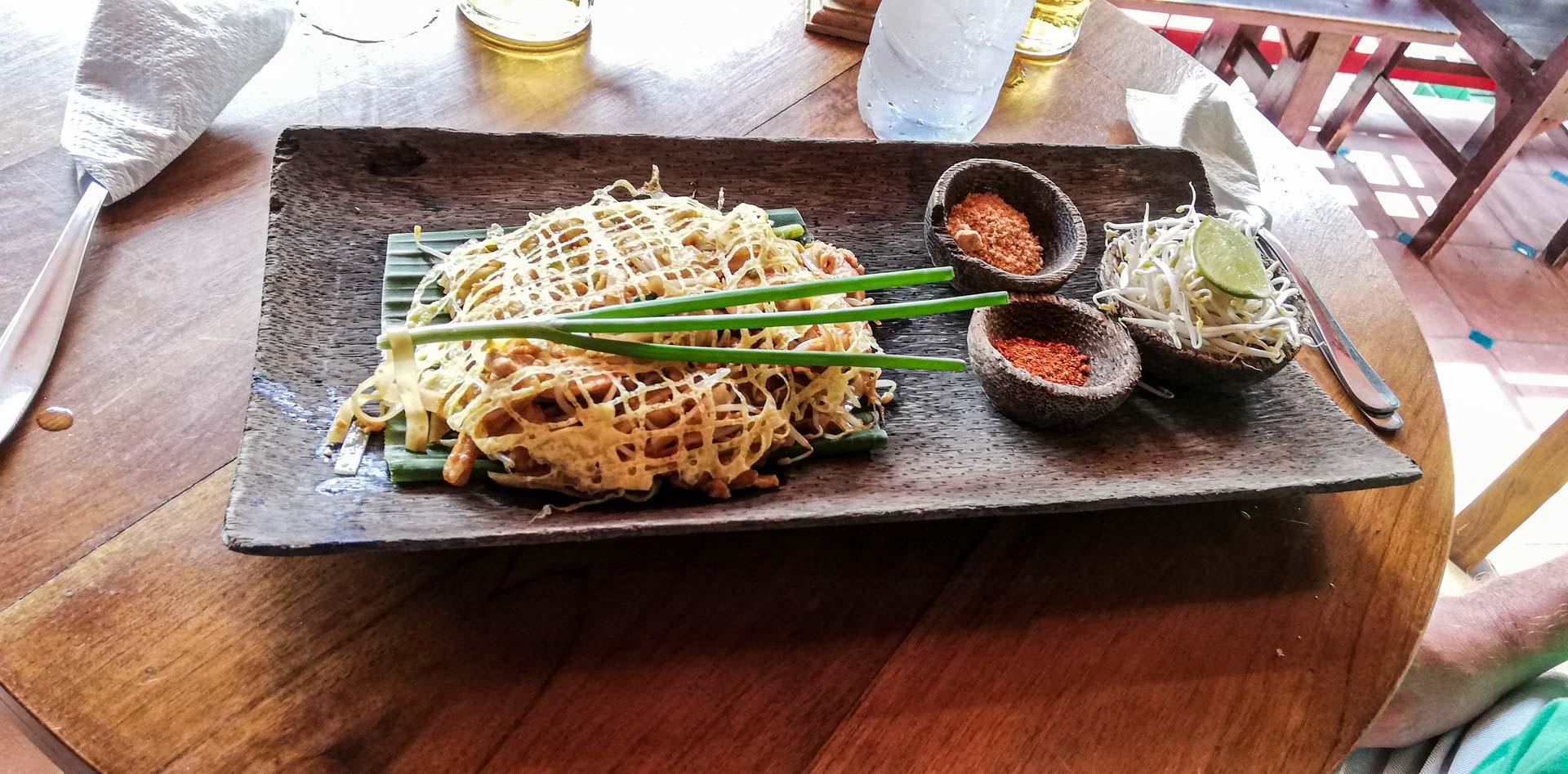 Pad Thai en Warung Siam, Ubud, Bali