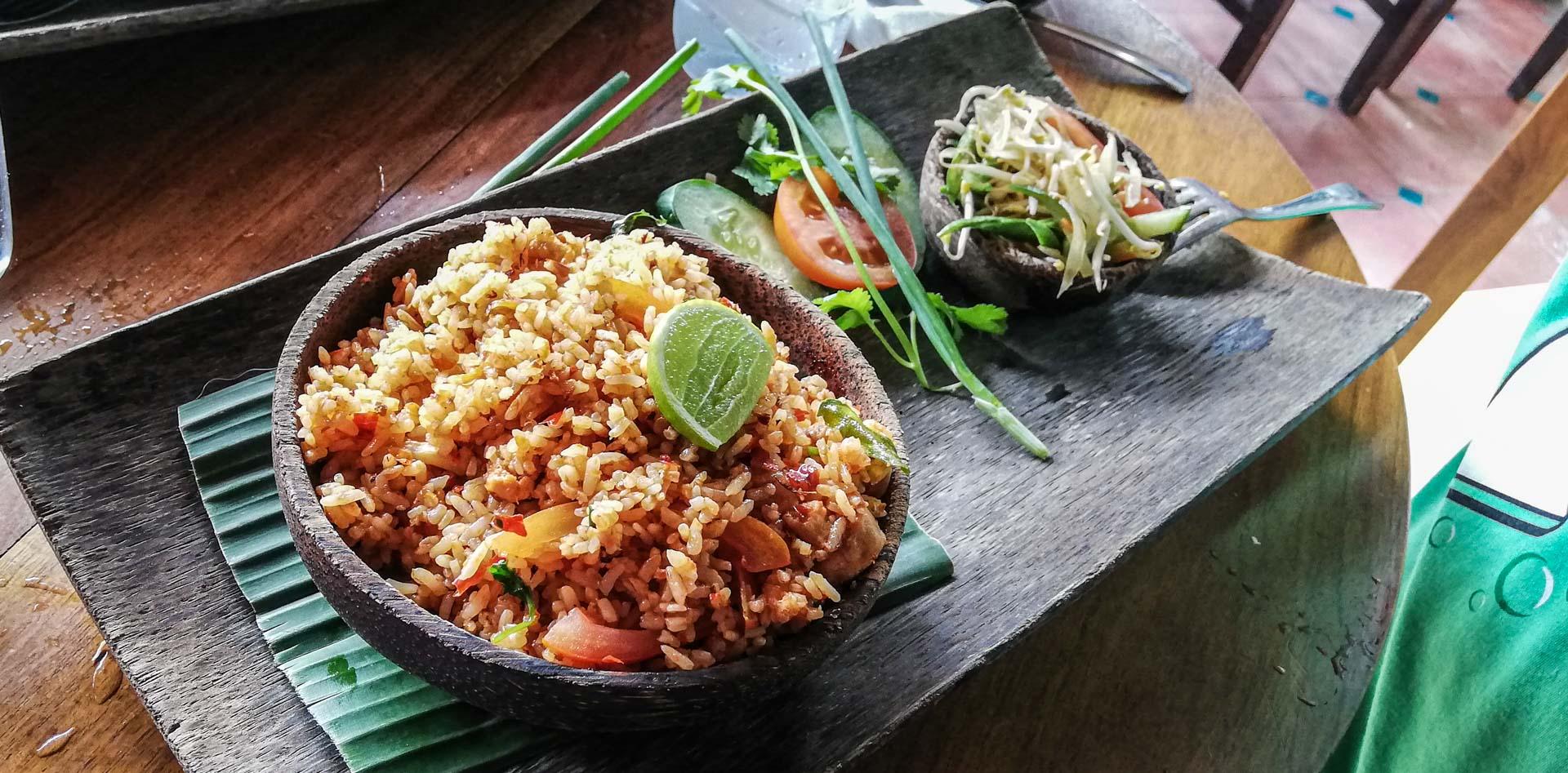 Arroz picante en Warung Siam, Ubud, Bali