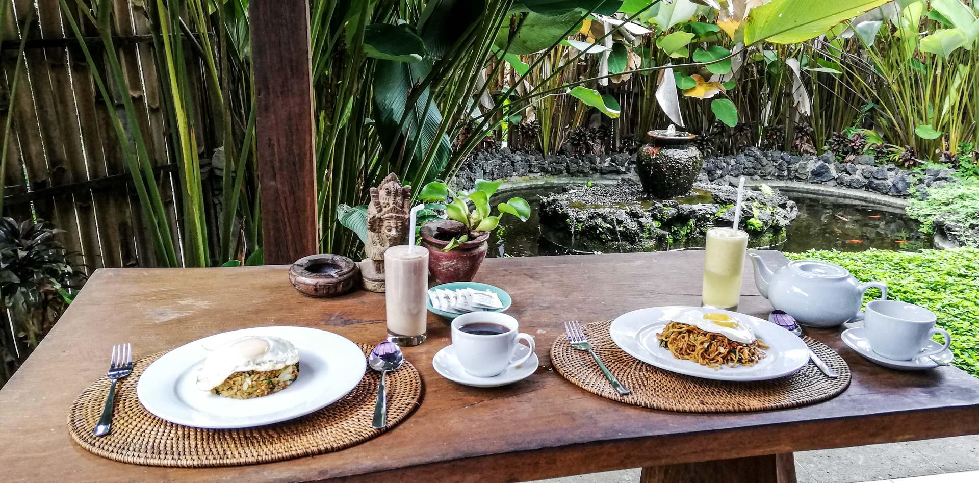 Desayuno balinés en Kishi - Kishi Ubud Villas, Bali