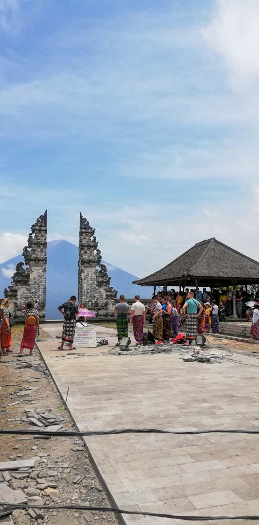 La famosa foto falsa del templo Penataran Agung Lempuyang