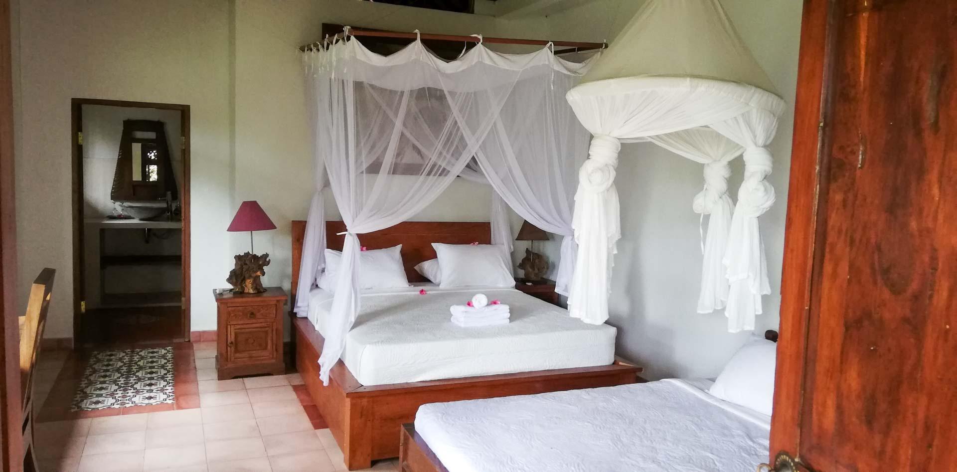 Nuestra habitación en Abian Ayu Villa, Sidemen, Bali