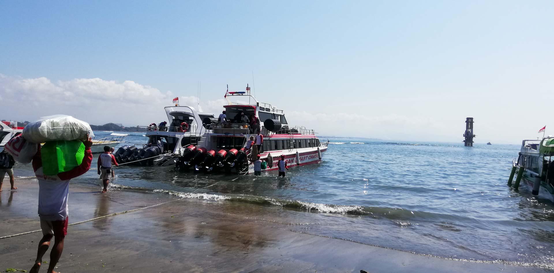 Speed boats en Sanur, Bali, Indonesia