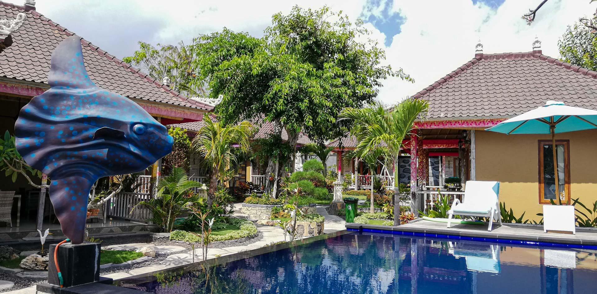 Blue Lagoon Secret Villas, nuestro alojamiento en Nusa Ceningan