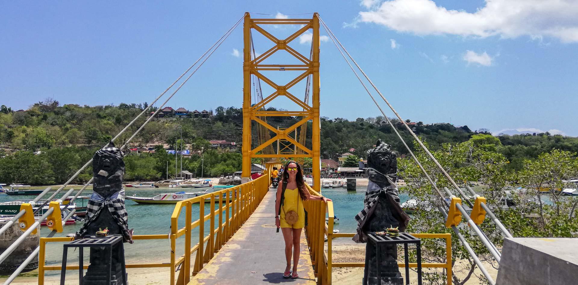 Yellow Bridge, puente que une Nusa Ceningan con Nusa Lembongan