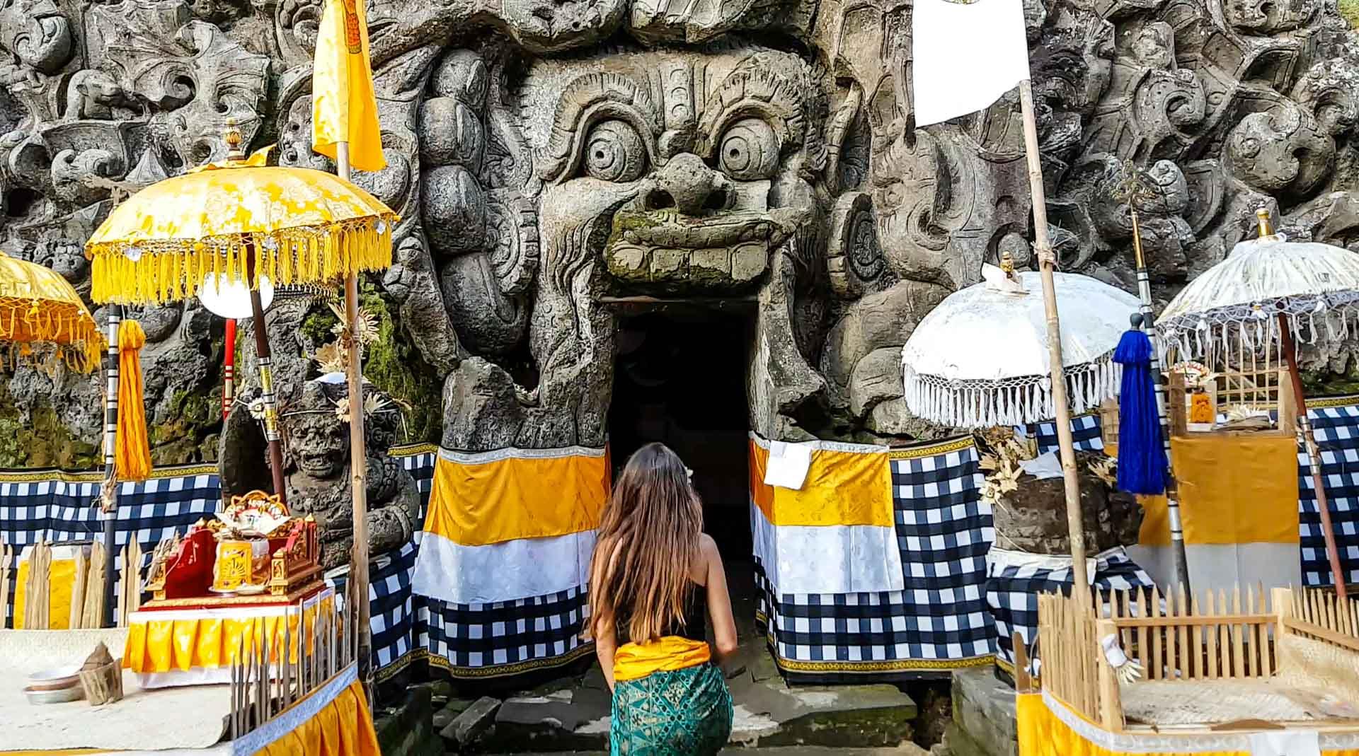 Pura Goa Gajah o Cueva del Elefante, Bali, Indonesia