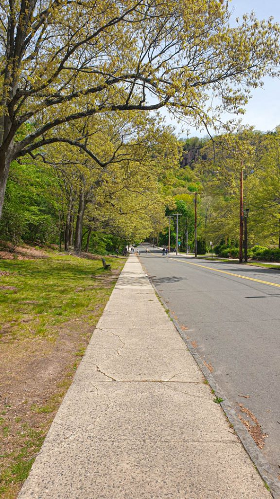 Orange Street, acceso a East Rock Park, New Haven, Connecticut