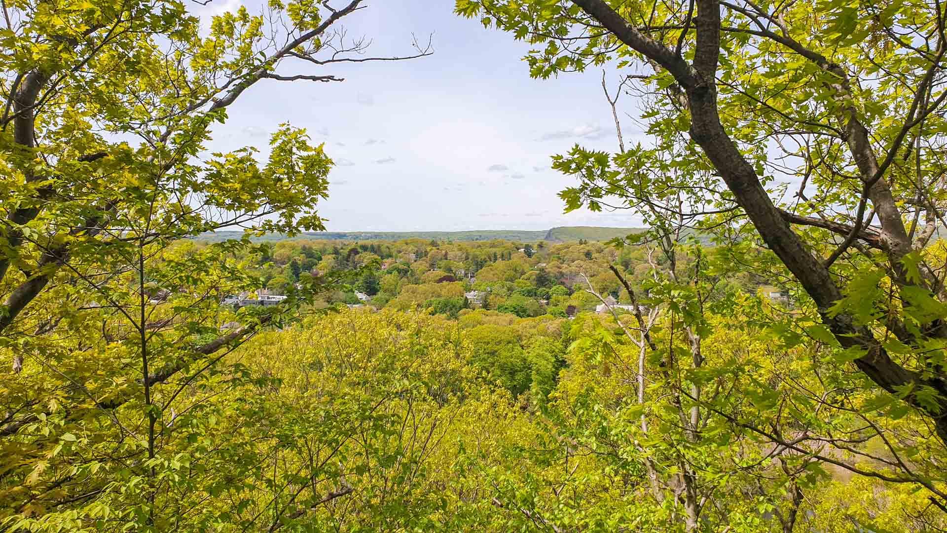 Vistas de West Rock Park, New Haven, Connecticut