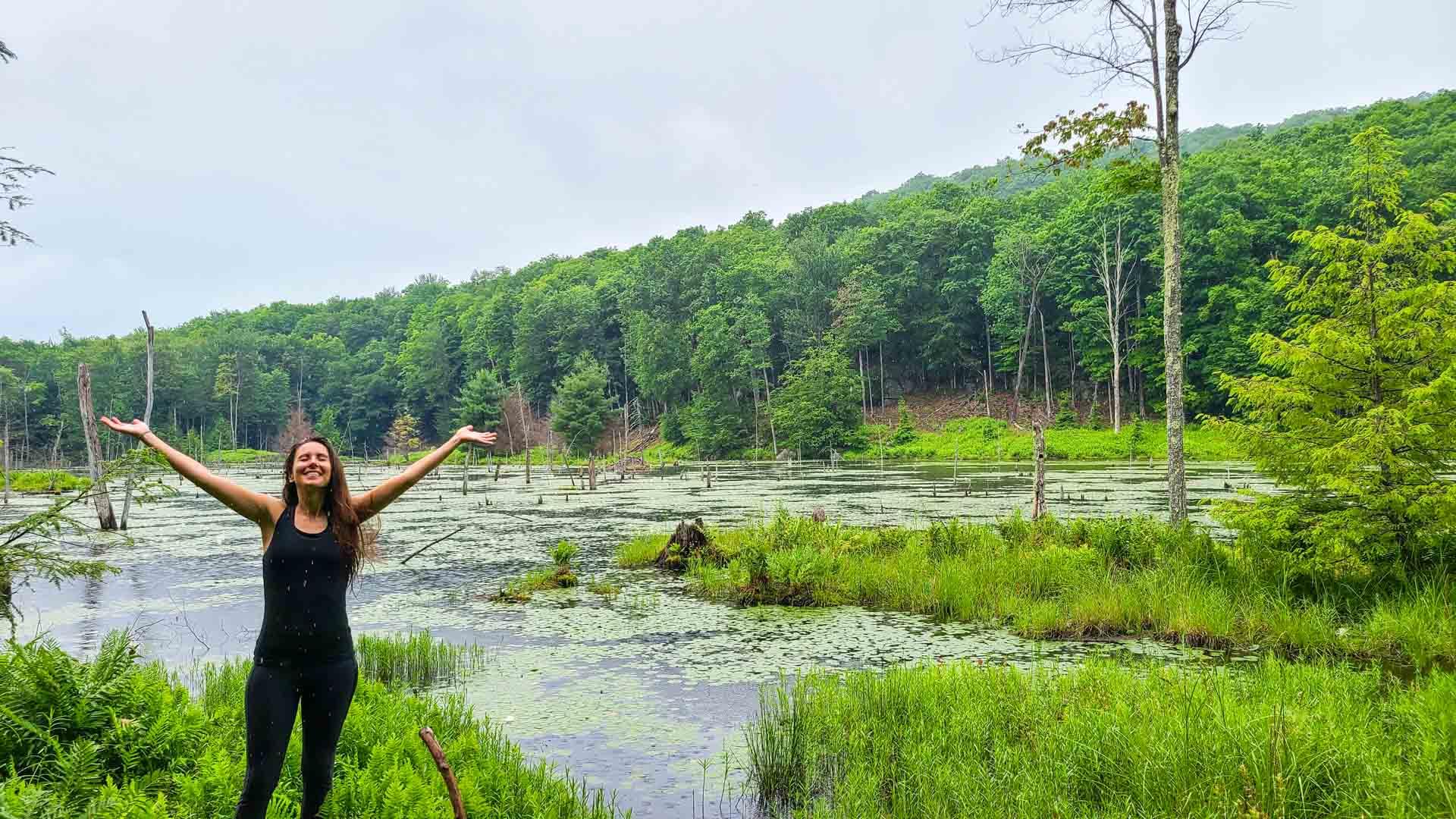 Empieza a llover, Corinth Reservoir Recreation Area, Adirondack, Nueva York